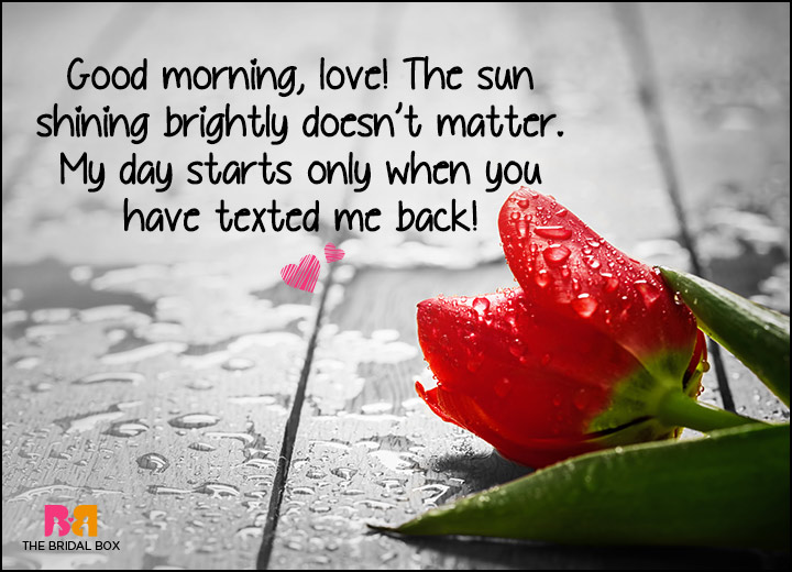 Good Morning Love SMS - My Day Starts With You
