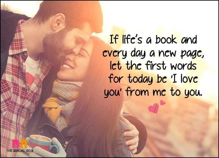Good Morning Love SMS - Every Day Is A New Page