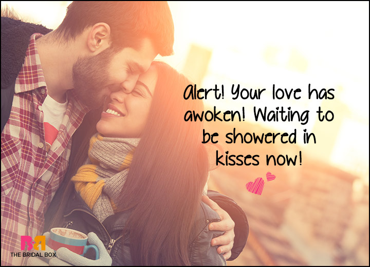 Good Morning Love SMS - Waitin' To Be Showered In KIsses