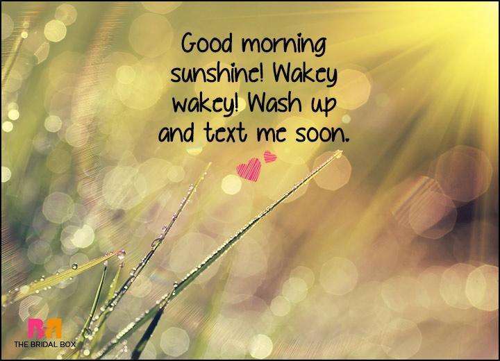 Good Morning Love SMS - Wakey Wakey!