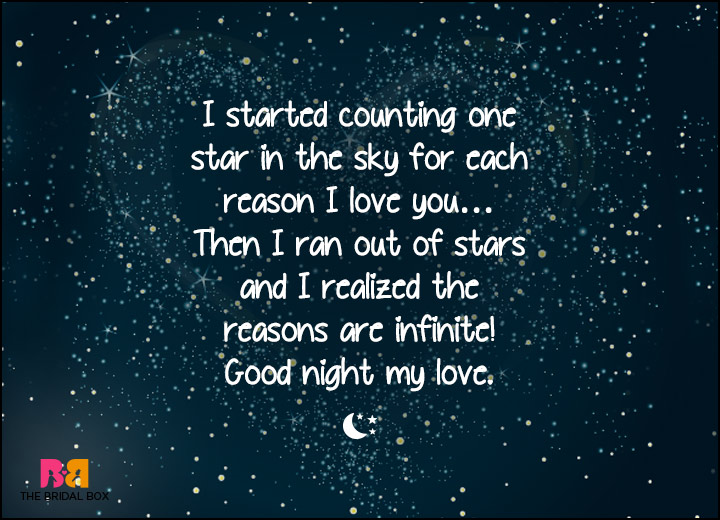 Good Night Love SMS - I Ran Out Of Stars