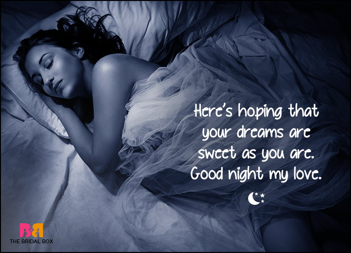 Good Night Love SMS - Here's To You My Darling
