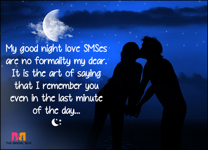 Good Night Love SMS   No Formality My Dear
