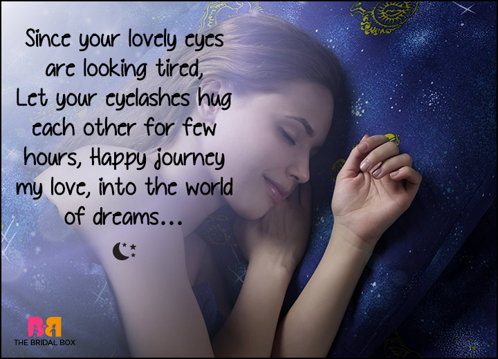 Good Night Love SMS - Your Lovely Tired Eyes