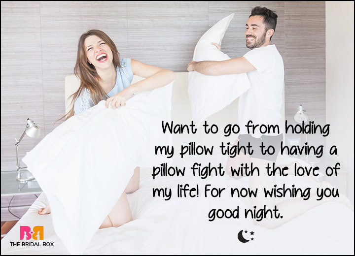 Good Night Love SMS - Pillow Fight!