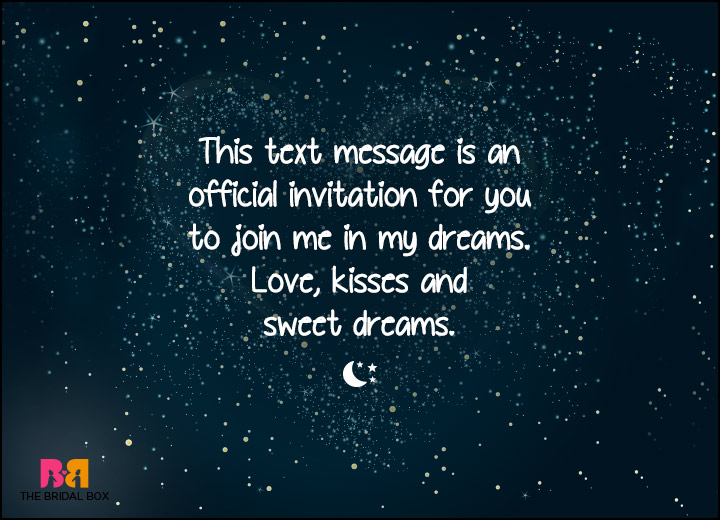 Good Night Love SMS - An Official Invitation