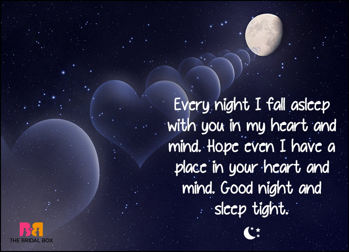 good night love sms every night in my dreams