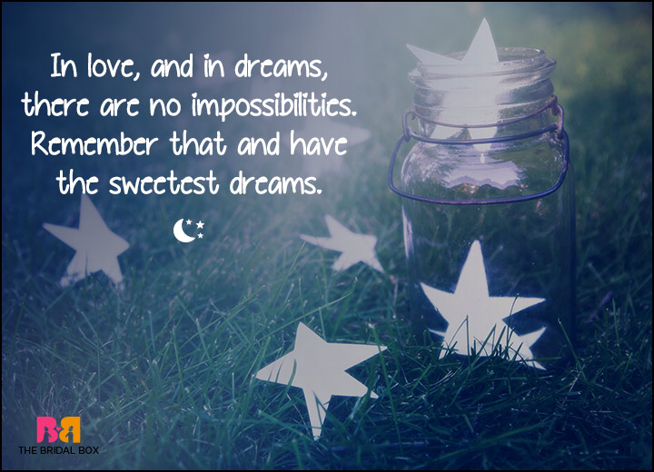 Good Night Love SMS - No Impossibilities
