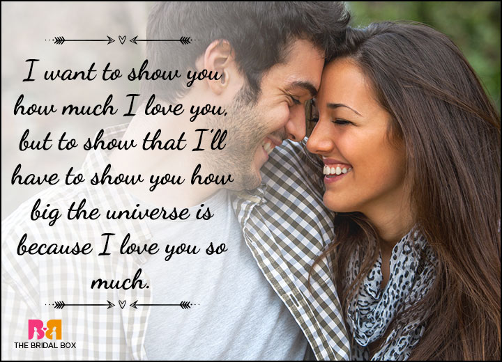 Happy Love Status Messages - The Universe