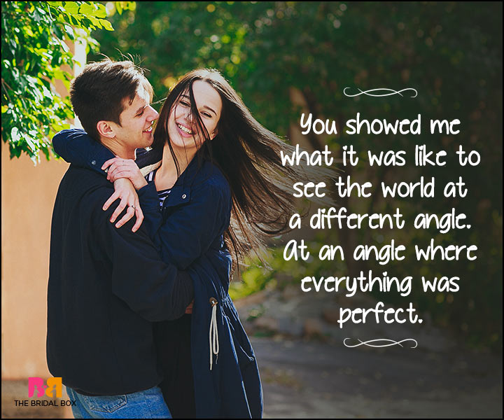 Heart Touching Love Quotes - An Angle Where Everything Is Perfect