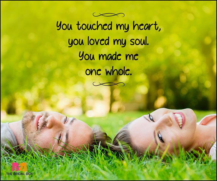 Heart Touching Love Quotes - You Touched My Heart