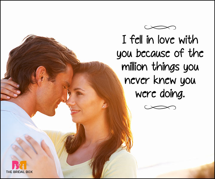 Heart Touching Love Quotes - Because Of A Million Things