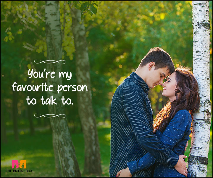 Heart Touching Love Quotes - My Favourite Person To Talk To