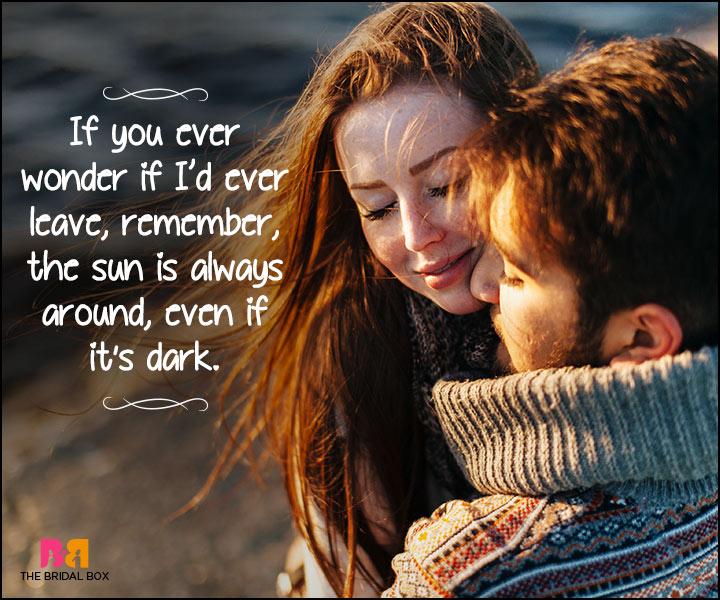 Heart Touching Love Quotes - The Sun Is Always Round