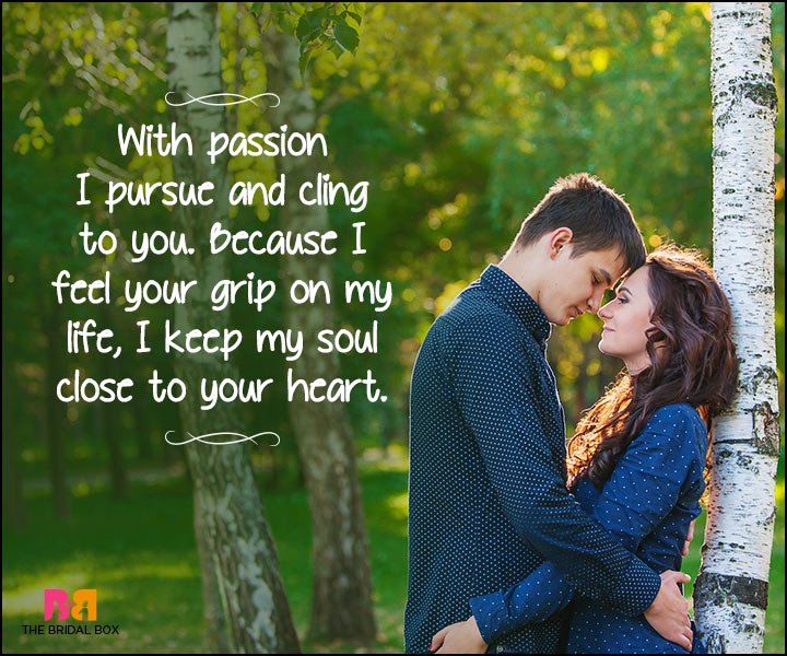 Heart Touching Love Quotes - Because I Feel Your Grip