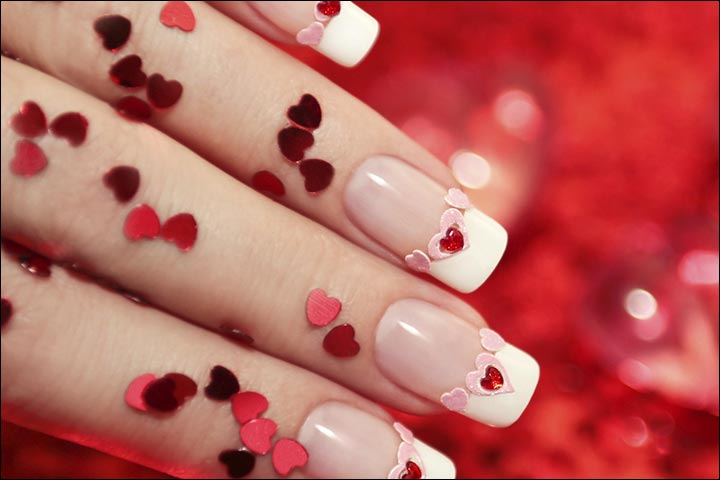 Bridal Nail Art Designs - Hearts And Kisses Bridal Nail Art