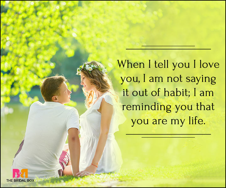 I Love You Quotes For Her - You Are My Life