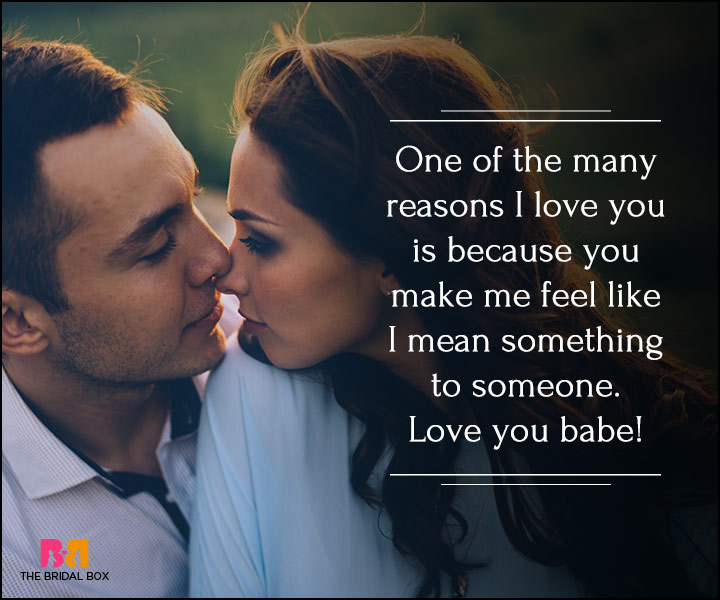 I Love You Quotes For Her - The Way You Make Me Feel
