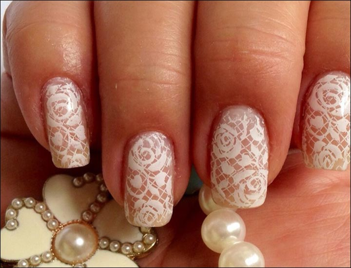 Bridal Nail Art Designs - Laced Bridal Nail Art