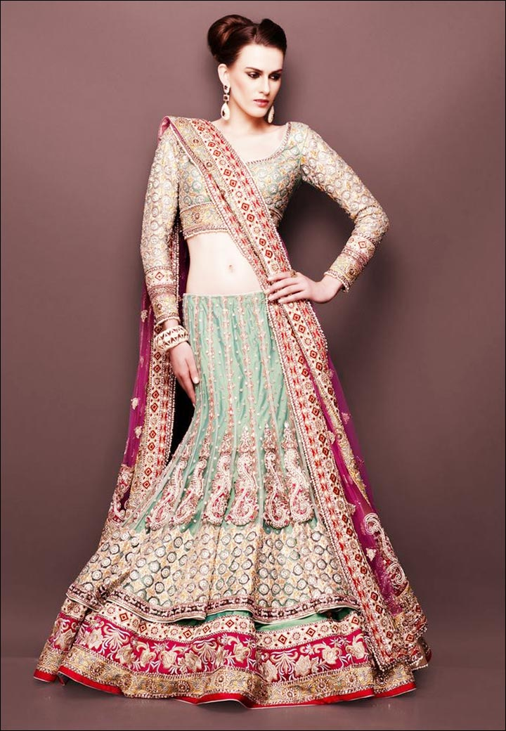 Lehenga For Engagement - Layered Lehenga