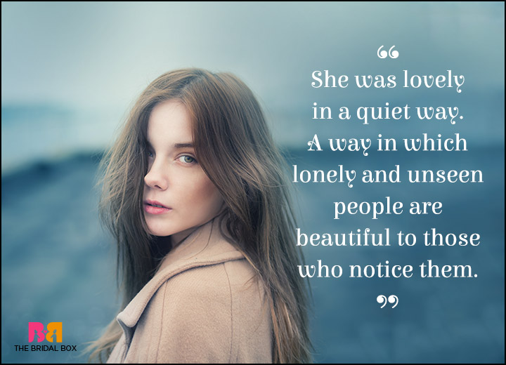 Lonely Love Quotes - The Wallflower