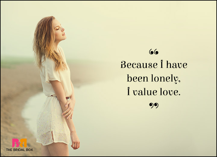 Lonely Love Quotes - Worth