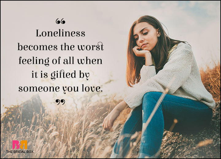 Lonely Love Quotes - My Lover's Gift
