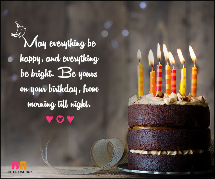 Love Birthday Messages - Everything Happy And Everything Bright