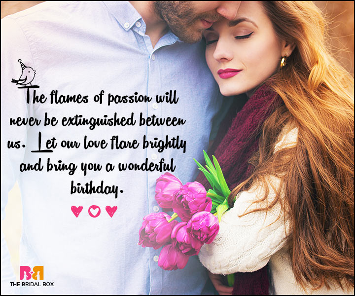 Love Birthday Messages - The Flames Of Passion