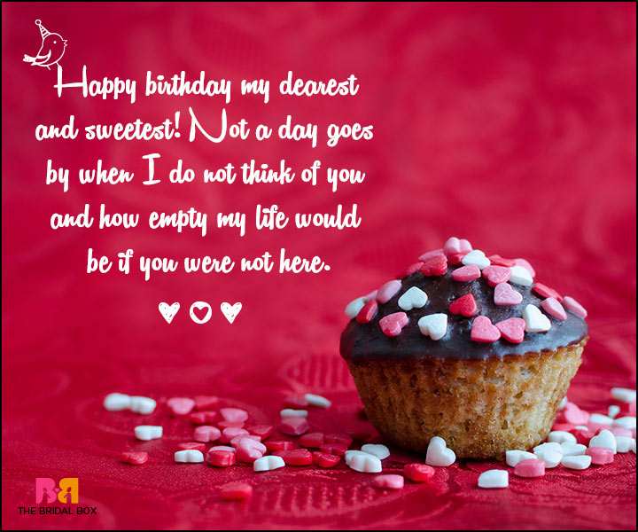 Love Birthday Messages - My Dearest And Sweetest