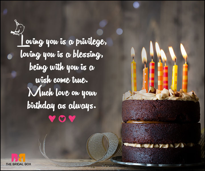 Love Birthday Messages - A Privilege And A Blessing
