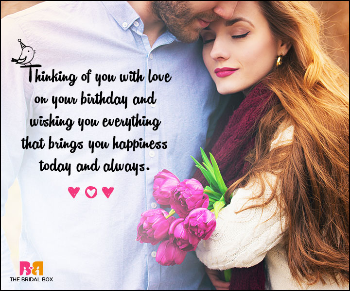 Love Birthday Messages - Wishing You Everything That Brings You Happiness