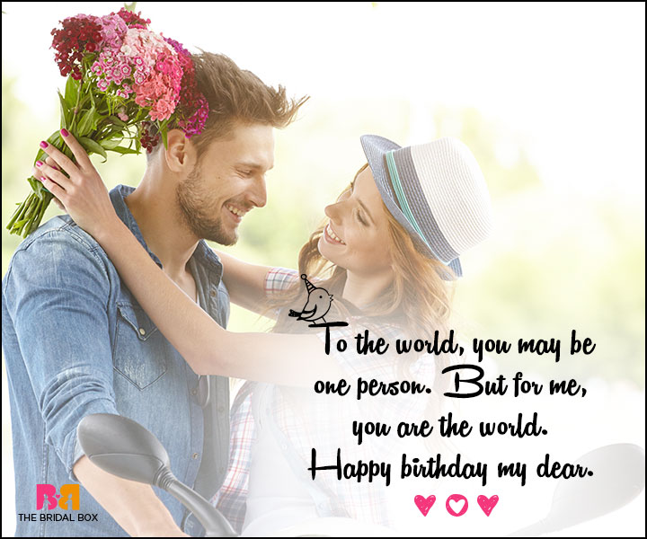 Love Birthday Messages - You Are The World