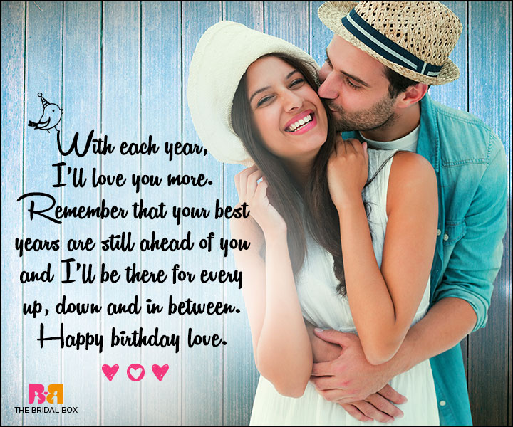 Love Birthday Messages - Your Best Years Are Still Ahead