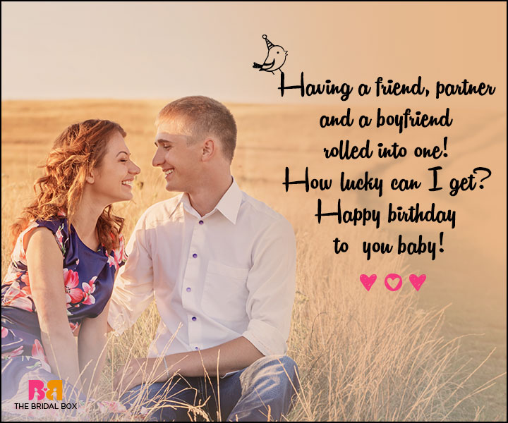 Love Birthday Messages - A Friend, A Boyfriend And A Partner