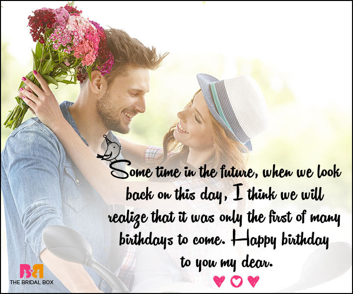Love Birthday Messages - We Will Look Back On This Day