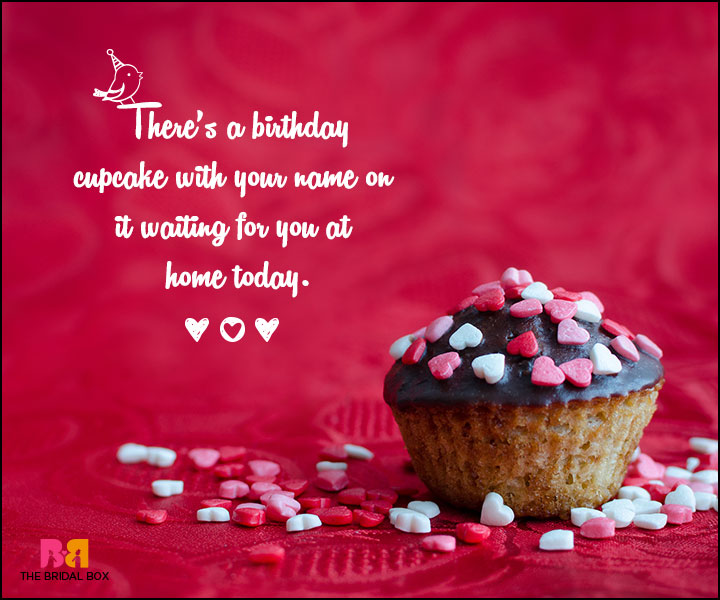 Love Birthday Messages - There's A Birthday Cupcake