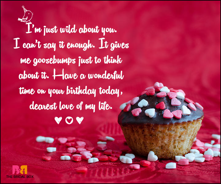 Love Birthday Messages - Wild About You