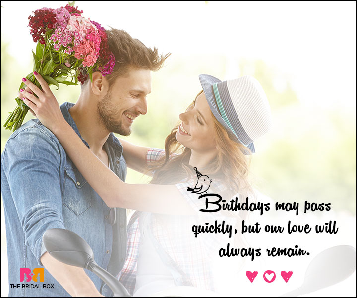 Love Birthday Messages - Our Love Will Always Remain