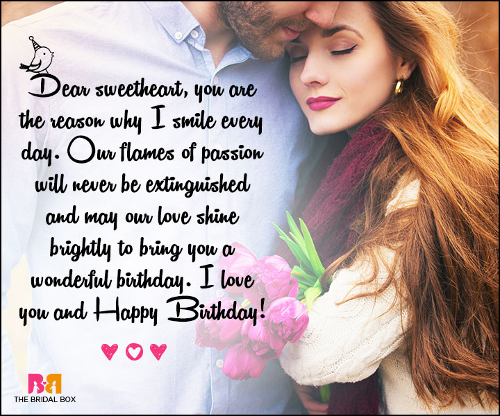Love Birthday Messages - The Reason I Smile Every Day