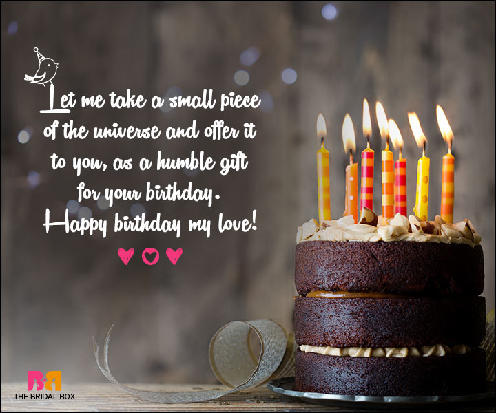 Love Birthday Messages - A Small Piece Of The Universe