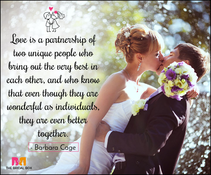 Love Marriage Quotes - A Partnership