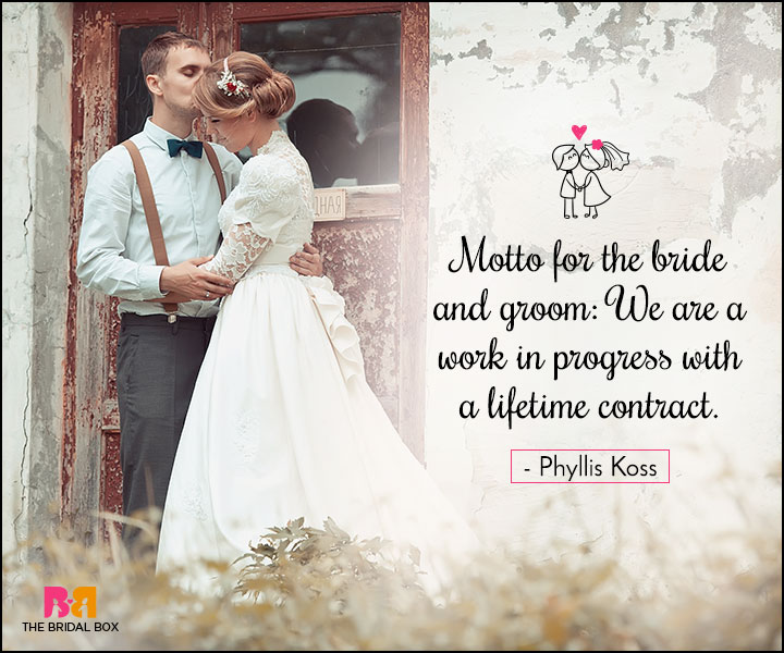 Love Marriage Quotes - A Lifetime Contract