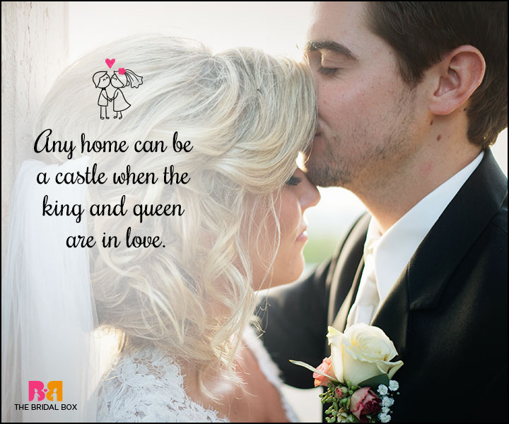 Love Marriage Quotes - A Castle