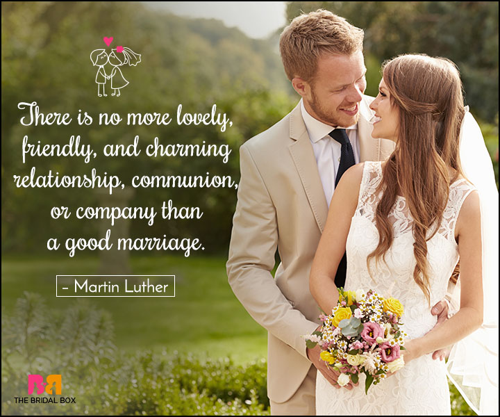 Love Marriage Quotes - A Good Marriage
