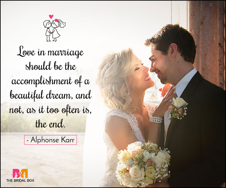 Love Marriage Quotes - A Beautiful Dream
