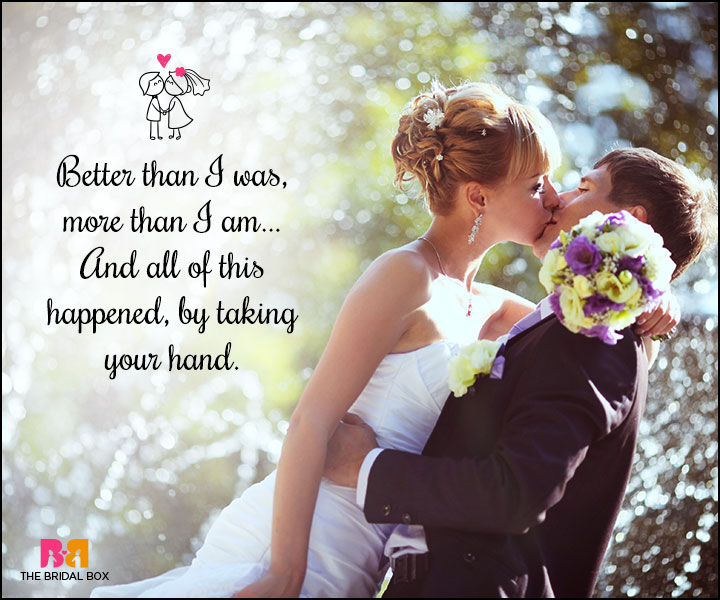 Love Marriage Quotes - Taking Your Hand