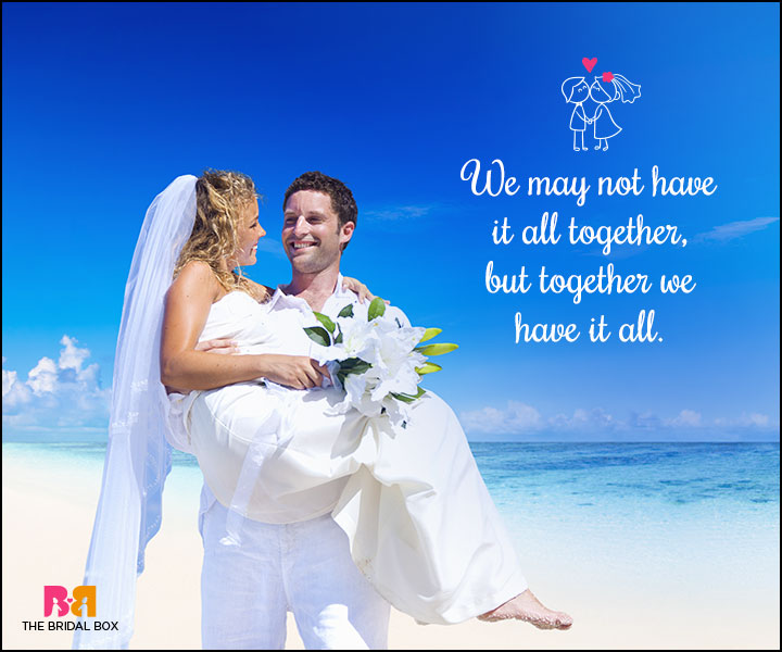 Love Marriage Quotes - Together
