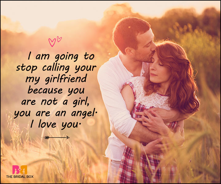 In love messages to girlfriend