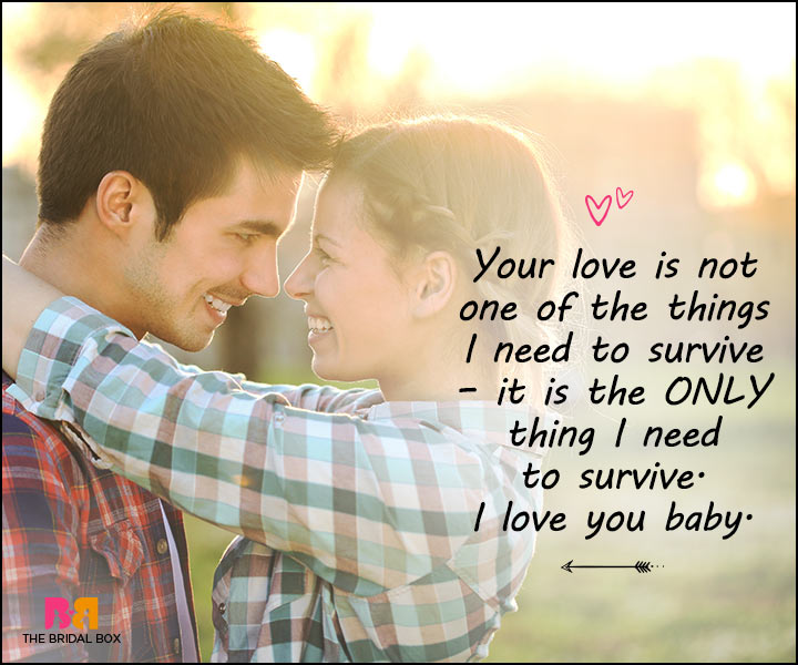 Love Messages For Her - The Only Thing I Need